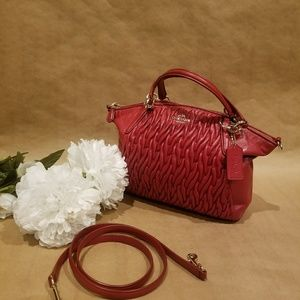 Coach satchel ..leather...with quilting